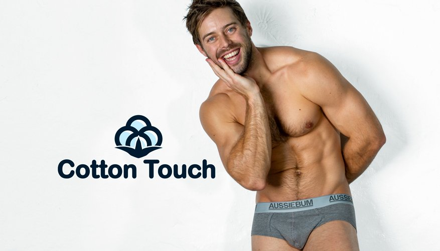 aussieBum Underwear, CottonTouch, Marle Grey Brief