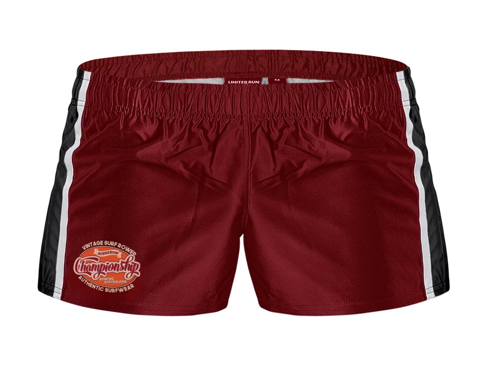 aussieBum Menswear Rugby Pro Short Maroon Red Short