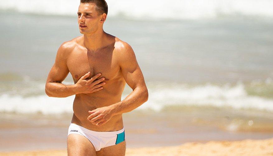 aussieBum Swimwear, Activate, White Brief