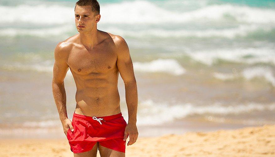 aussieBum Swimwear, Freestyle, Red Short