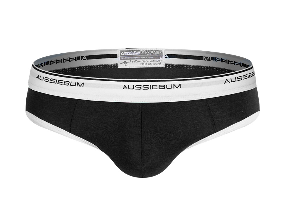 aussieBum Underwear, Hitch, Black Brief