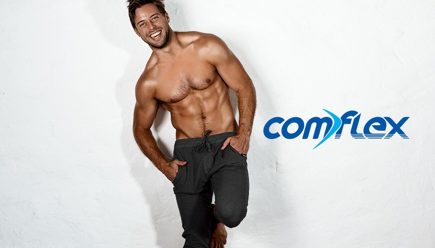 aussieBum Clothing, ComFlex, Black Pant