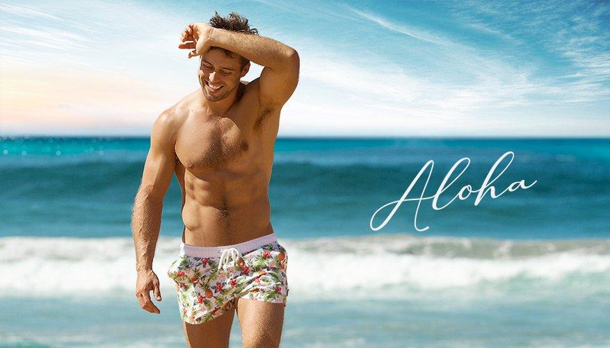 aussieBum Swimwear, Aloha, White Short