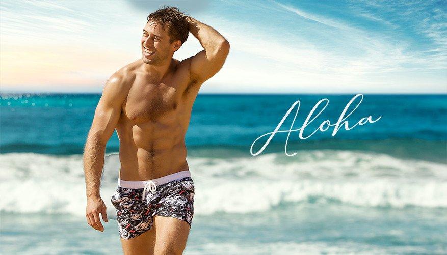 aussieBum Swimwear, Aloha, Black Short