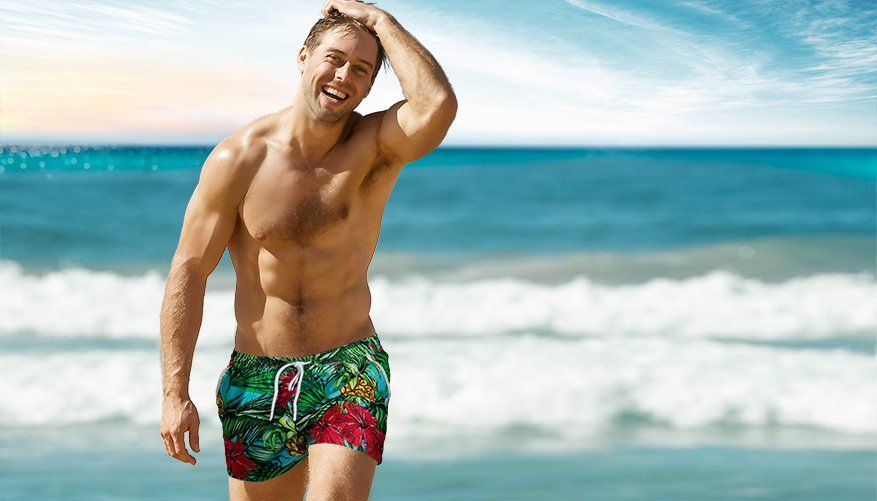 aussieBum Clothing, Paradise, Tropical Multicolor Short