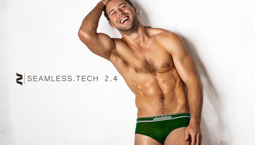 aussieBum Underwear, Seamless.Tech 2.4, Forest Green Brief