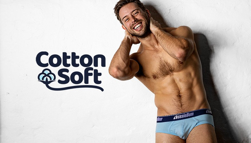 aussieBum Underwear, CottonSoft, Sapphire Ice Blue Brief