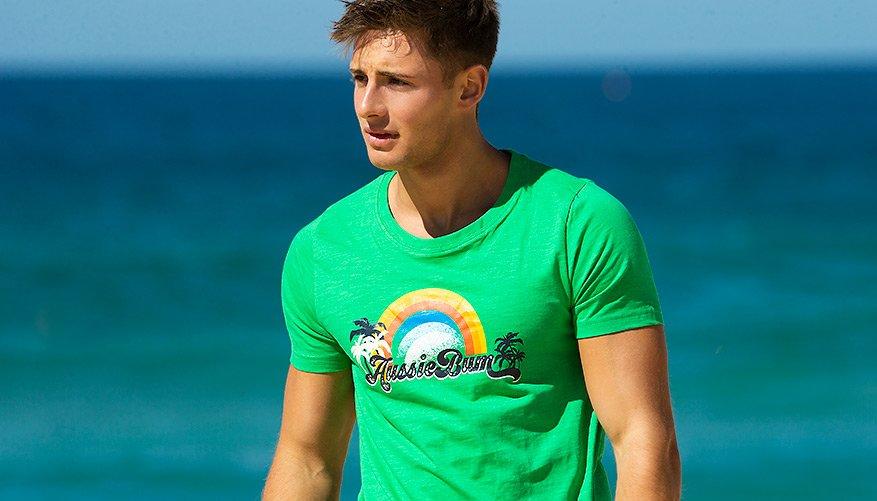 aussieBum Clothing, Designer Tee, Green Tshirt