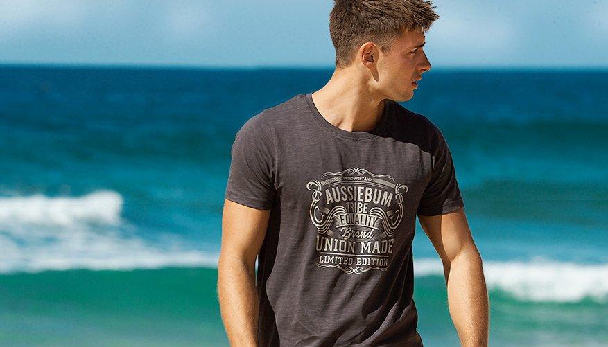 aussieBum Clothing, Designer Tee, Charcoal Grey Tshirt