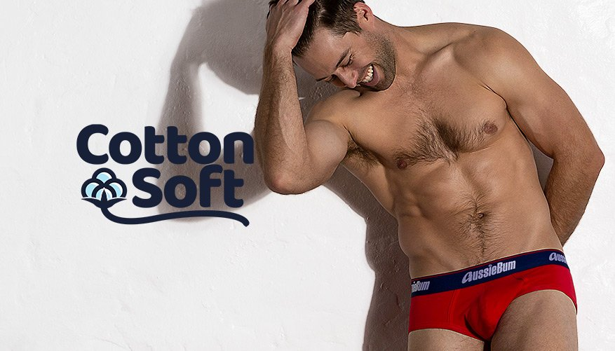 aussieBum Underwear, CottonSoft, Regatta Red Brief