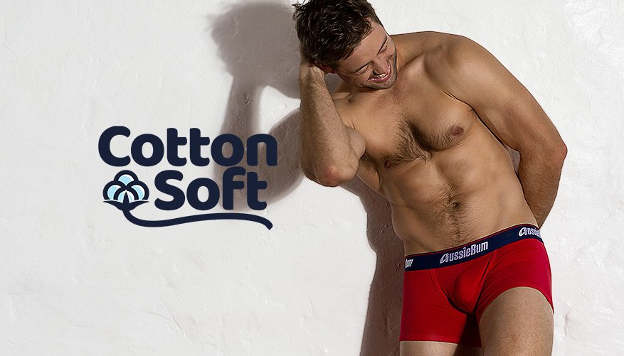 aussieBum Underwear, CottonSoft, Regatta Red Trunk