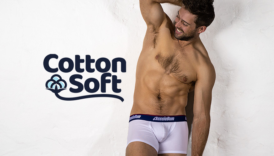 aussieBum Underwear, CottonSoft, Regatta White Trunk