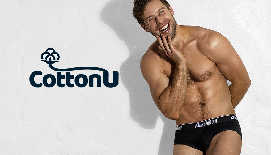 aussieBum Underwear, Cotton U, Black Brief
