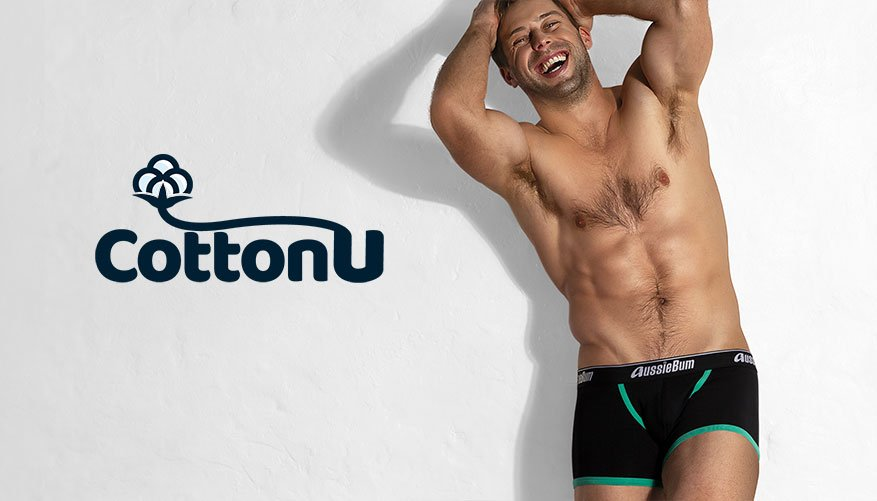 aussieBum Underwear, Cotton U, Green Trunk