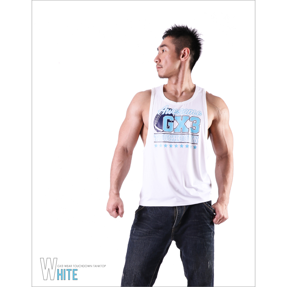 Tops LIMITED EDITION GX3 WEAR TOUCHDOWN TANKTOP - WHITE