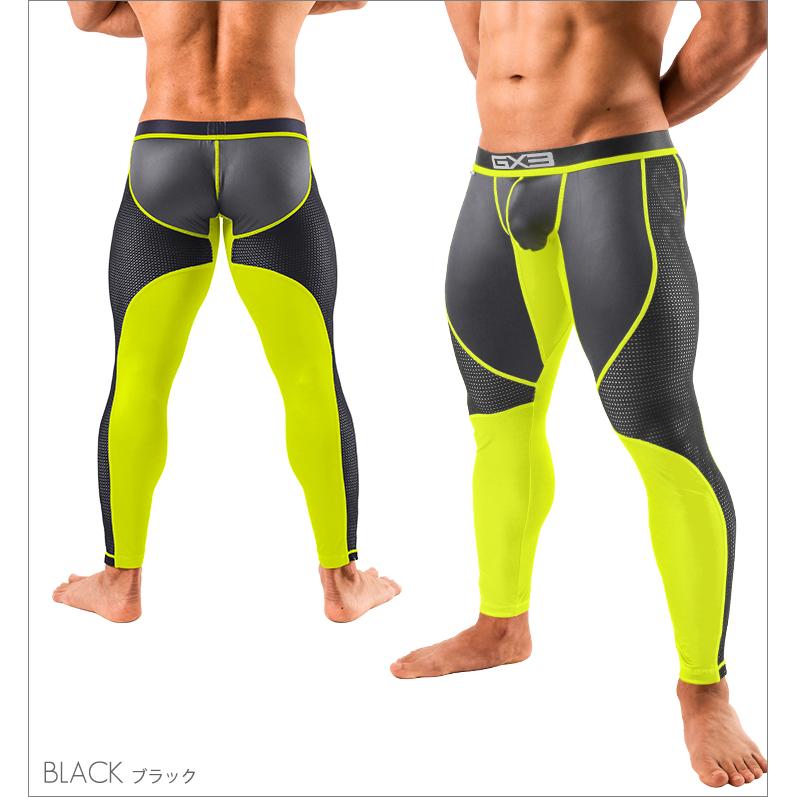 Bottoms GX3 NEON MESH LONG SPATS - BLACK