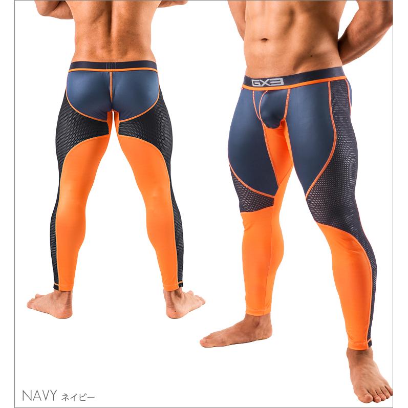 Bottoms GX3 NEON MESH LONG SPATS - NAVY
