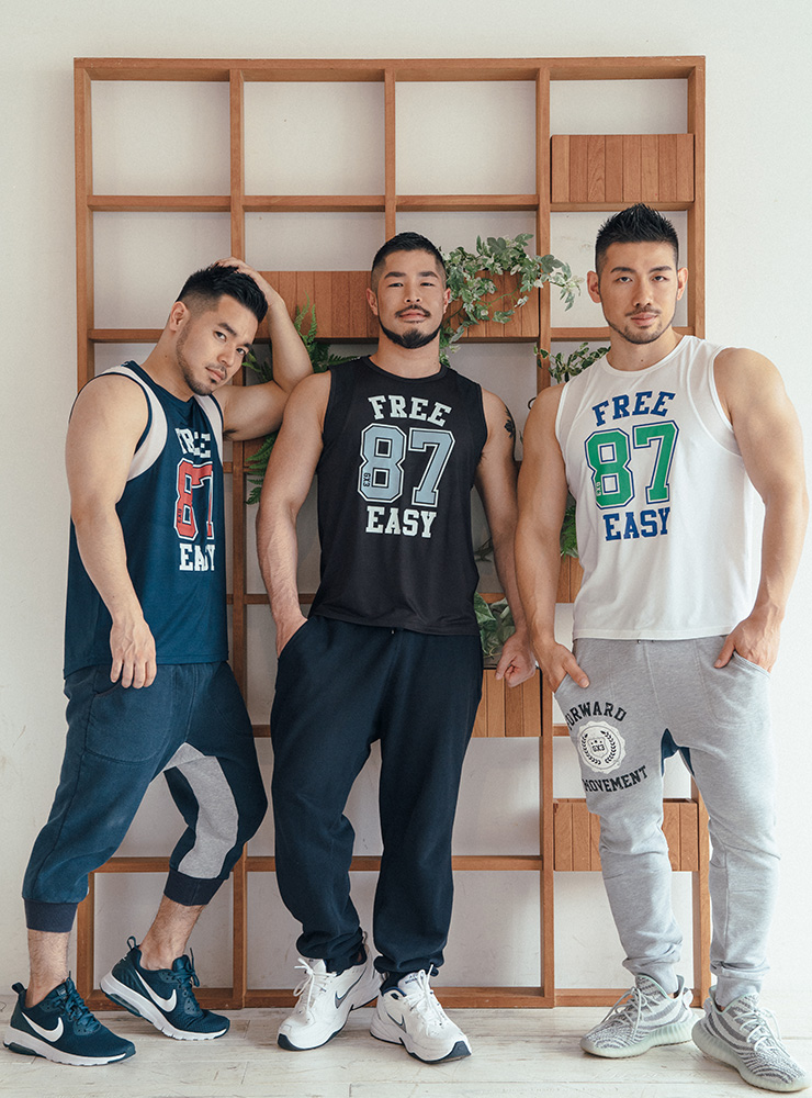 GX3 Tops GX3 WEAR SUPER PRINT NUMBERING SLEEVELESS - NAVY