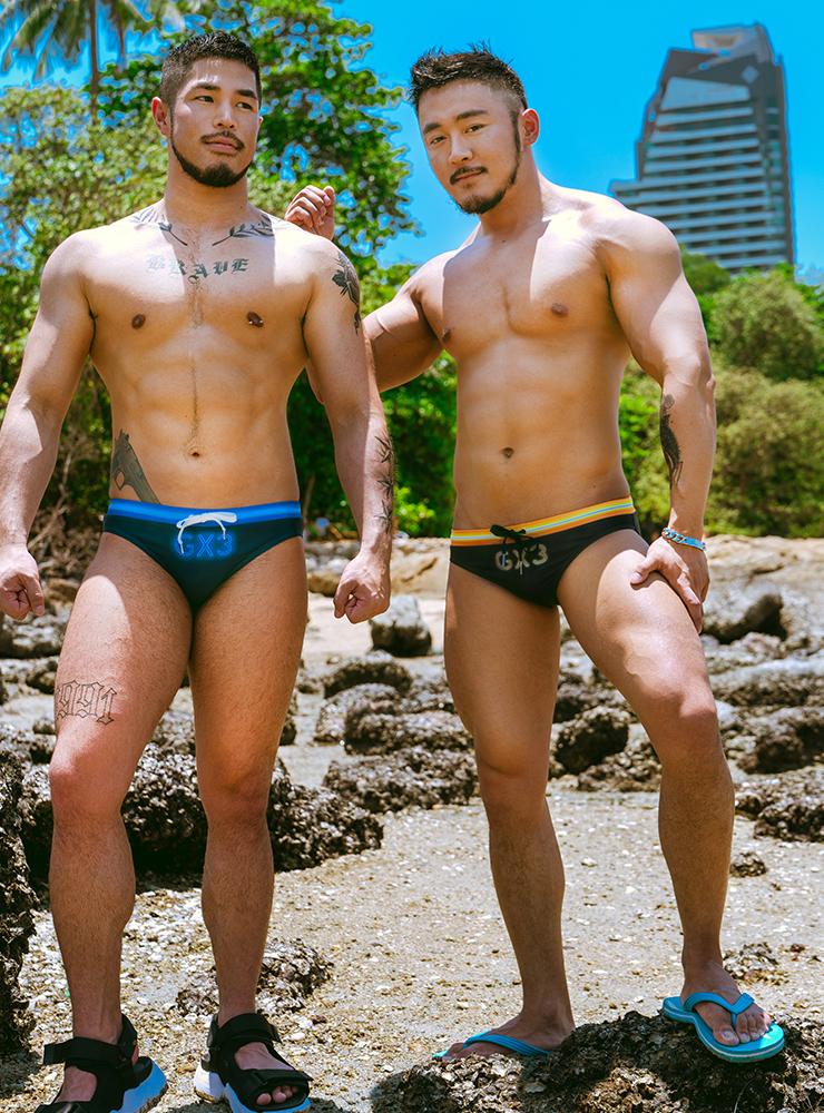 GX3 Swimwear GX3 NEON SWIMWEAR - BLACK