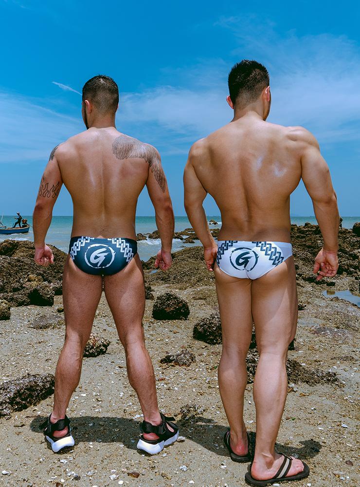 GX3 Swimwear GX3 JAPANESE PATTERN BIKINI SWIMWEAR - WHITE