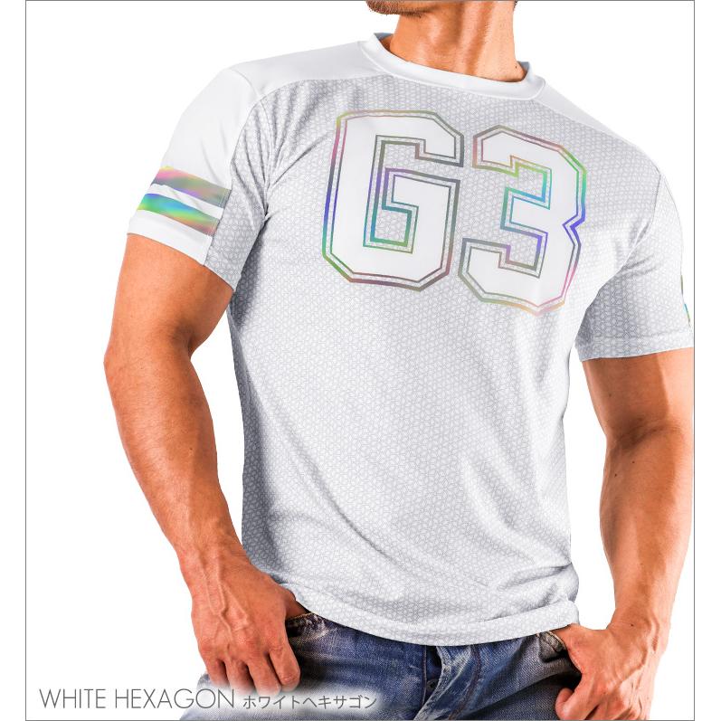 Tops GX3 SPORTS air LOGO T-SHIRTS - WHITE HEXAGON