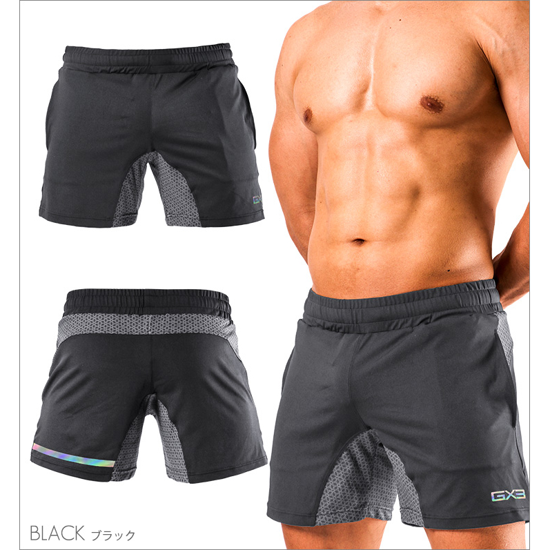 GX3 Bottoms GX3 SPORTS air GYM SHORT PANTS - BLACK