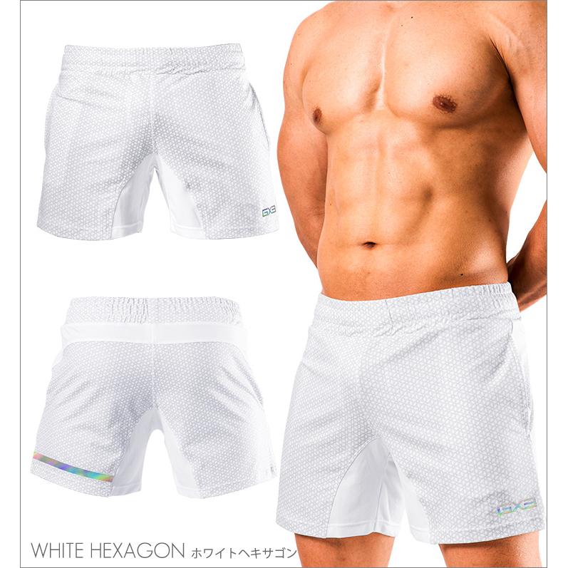 Bottoms GX3 SPORTS air GYM SHORT PANTS - WHITE HEXAGON