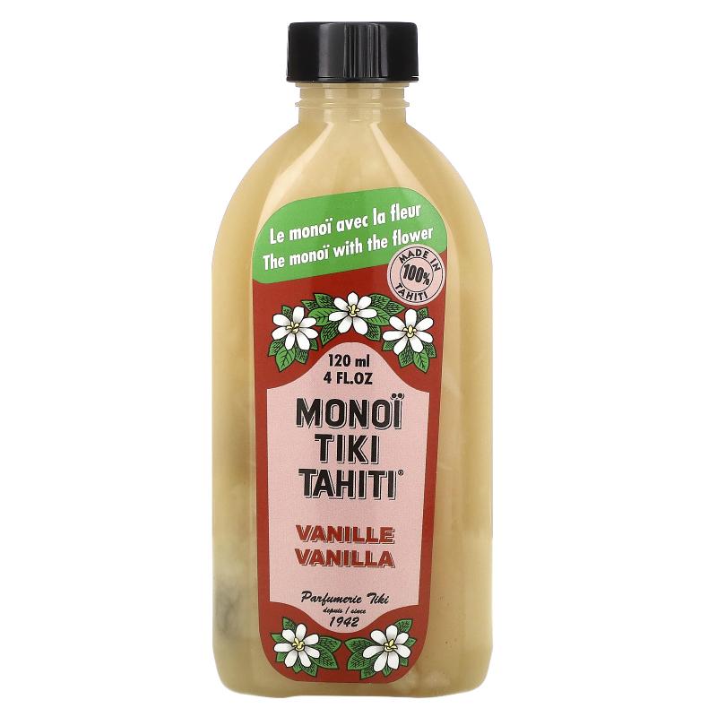 Monoi Tiare Tahiti, Coconut Oil, Vanilla, 4 fl oz (120 ml)