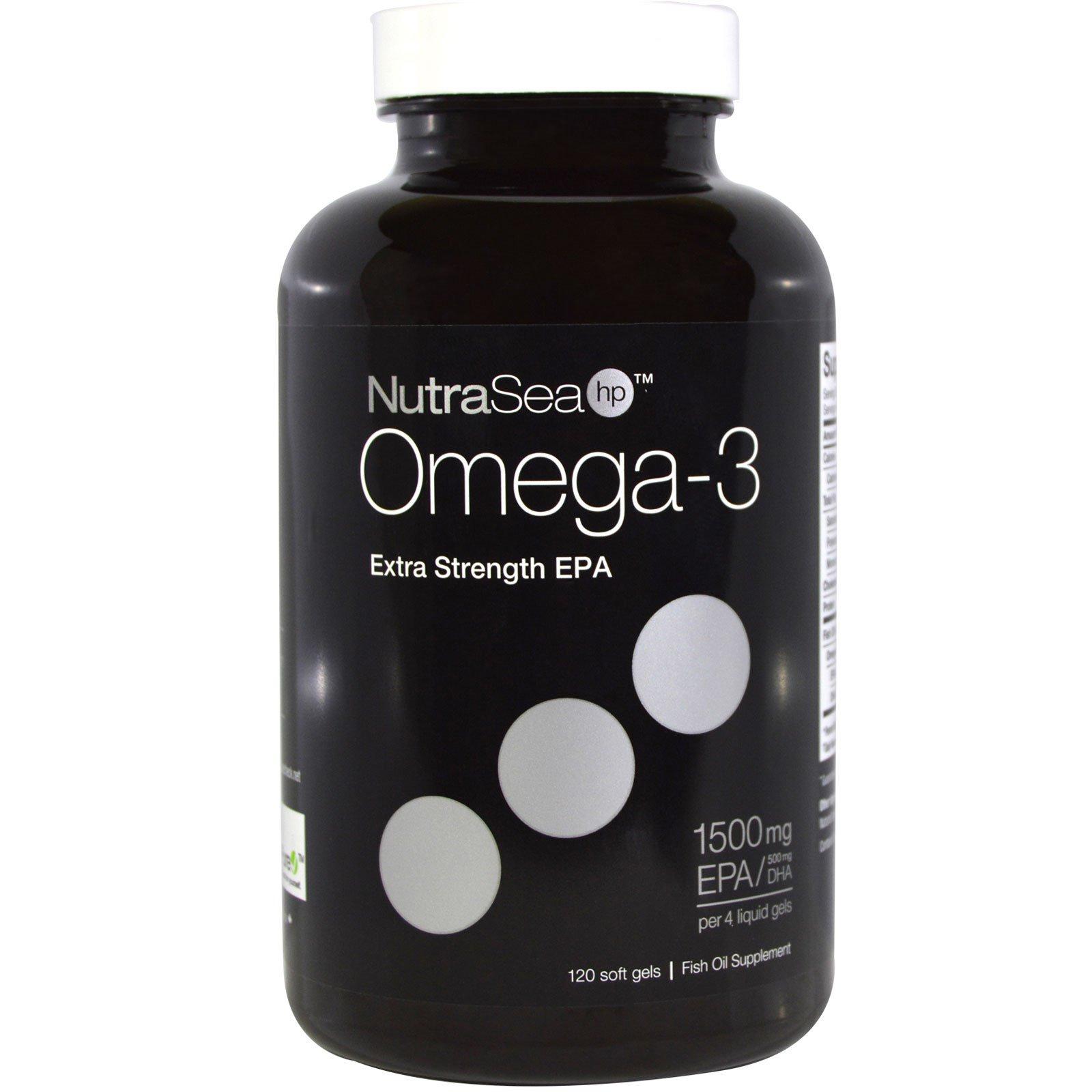 Ascenta, NutraSea hp, Omega-3, Extra Strength EPA, Lemon Flavor, 120 Softgels