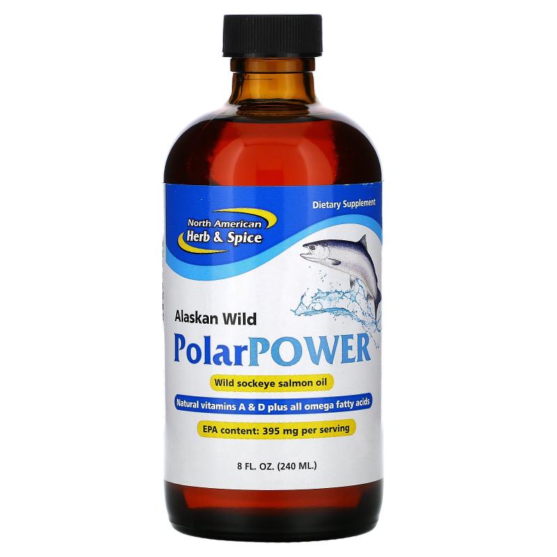 North American Herb & Spice Co., Alaskan Wild PolarPower, Wild Sockeye Salmon Oil, 8 fl oz (240 ml)