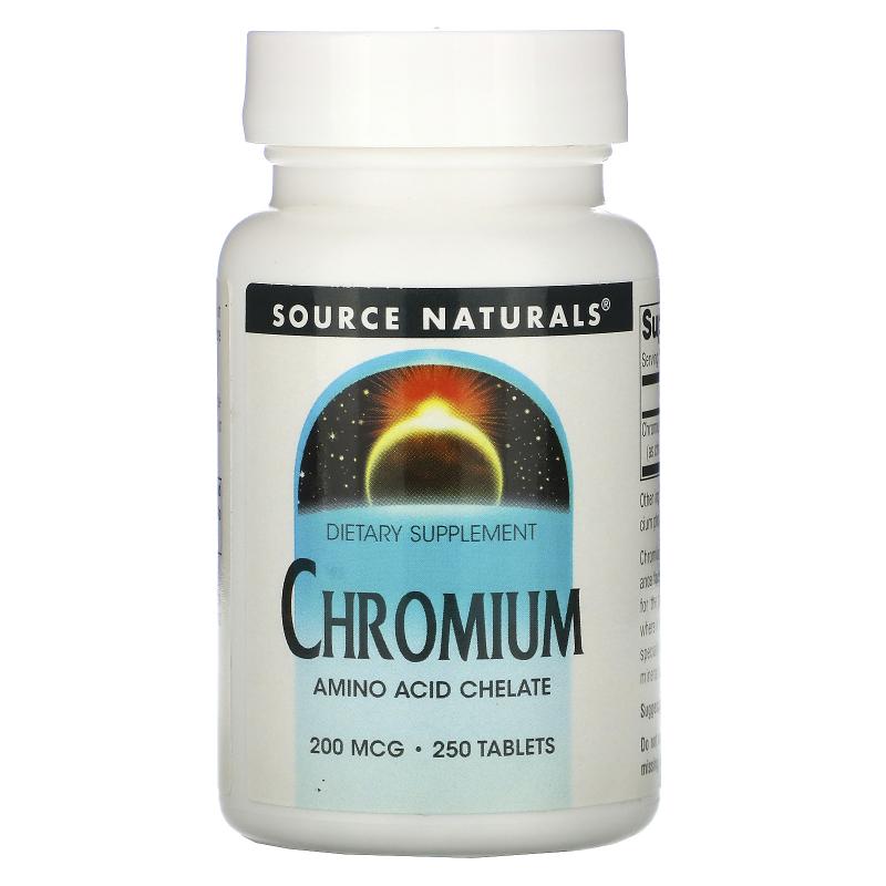 Source Naturals, Chromium, 200 mcg, 250 Tablets