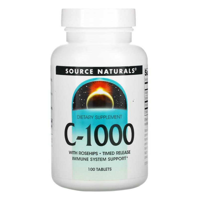 Source Naturals, C-1000, 100 Tablets