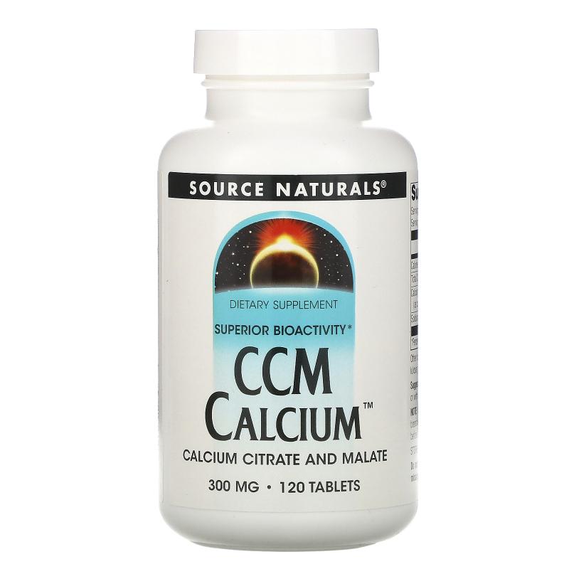 Source Naturals, CCM Calcium, 300 mg, 120 Tablets
