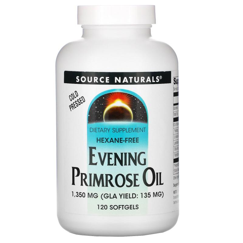 Source Naturals, Evening Primrose Oil, 1,350 mg, 120 Softgels