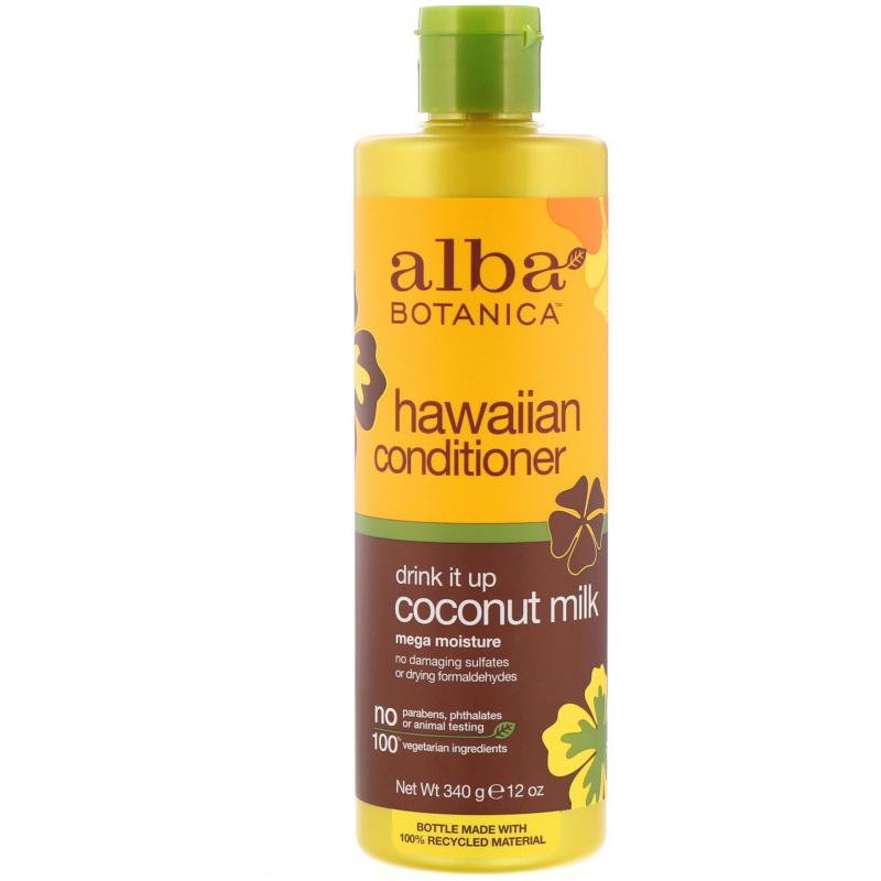 Alba Botanica, Natural Hawaiian Conditioner, Drink It up Coconut Milk, 12 oz (340 g)