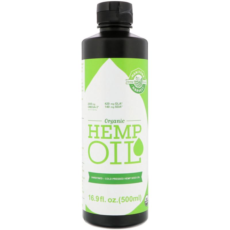 Manitoba Harvest, Certified Organic Hemp Oil, 16.9 fl oz (500 ml)