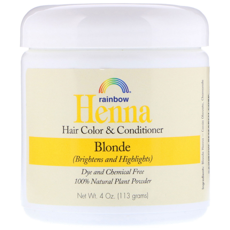 Rainbow Research, Henna, Hair Color and Conditioner, Blonde, 4 oz (113 g)