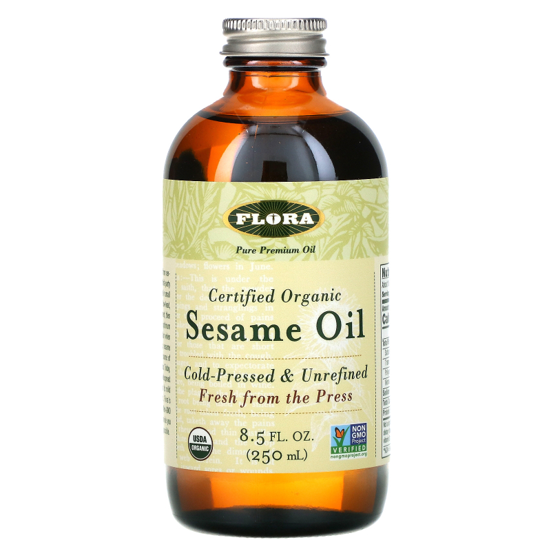 Flora, Certified Organic Sesame Oil, 8.5 fl oz (250 ml)