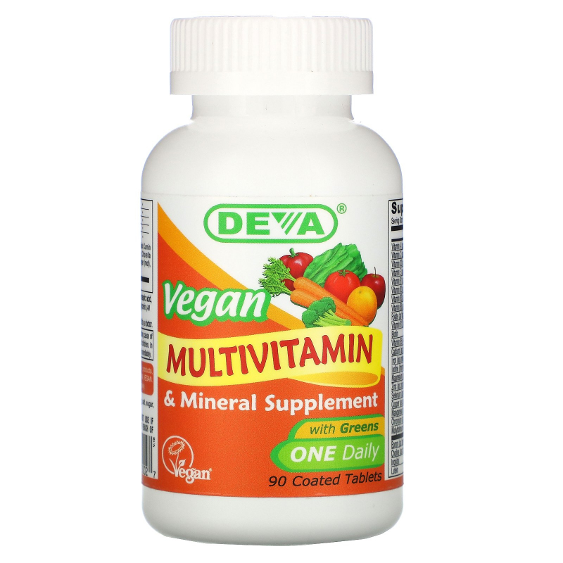 Deva, Vegan, Multivitamin & Mineral Supplement, 90 Coated Tablets