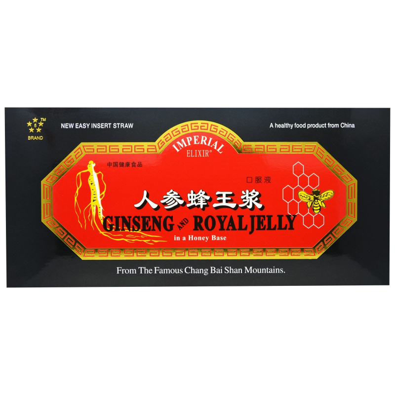 Imperial Elixir, Ginseng and Royal Jelly, 30 Bottles, 0.34 fl oz (10 ml) Each