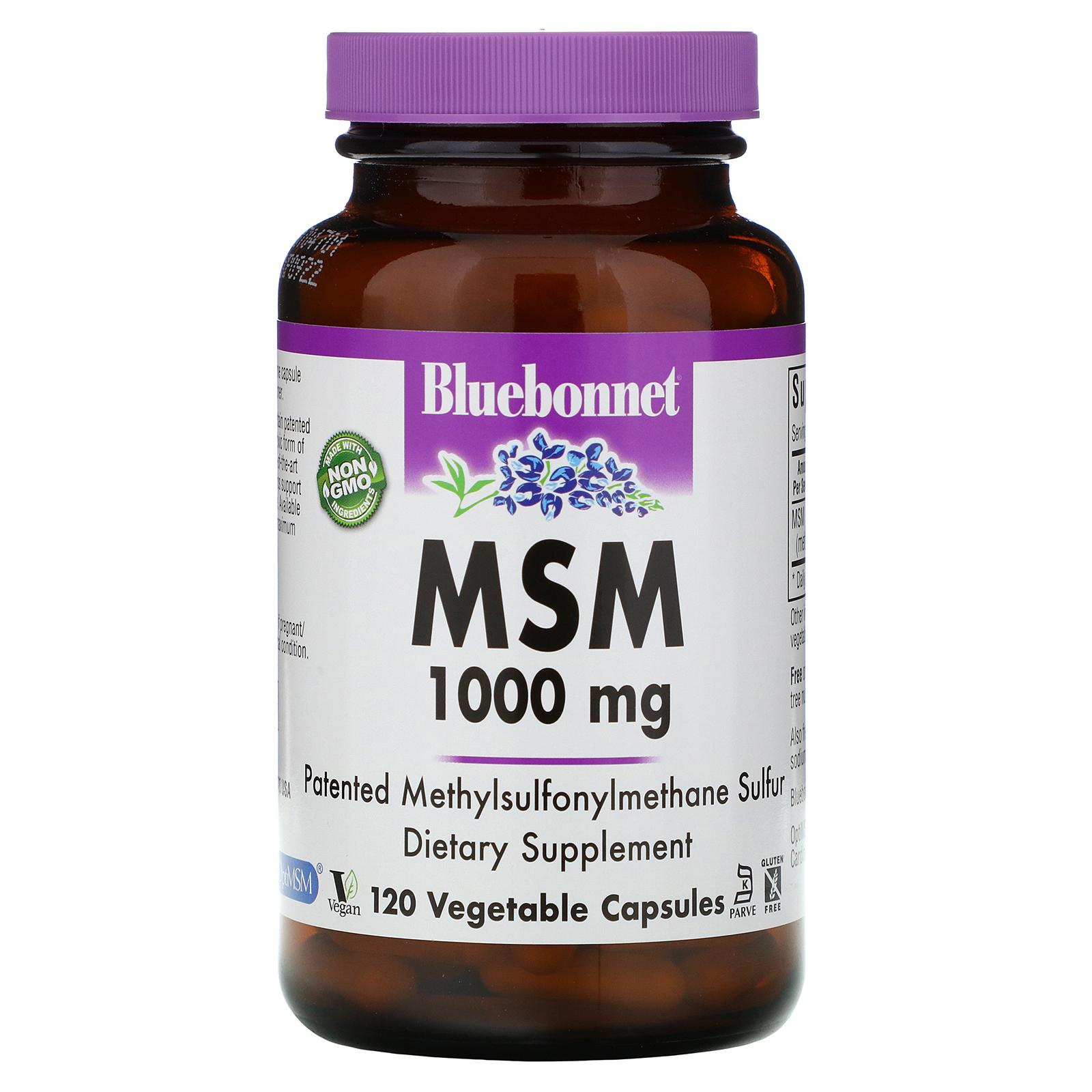 Bluebonnet Nutrition, MSM, 1000 mg, 120 Vcaps