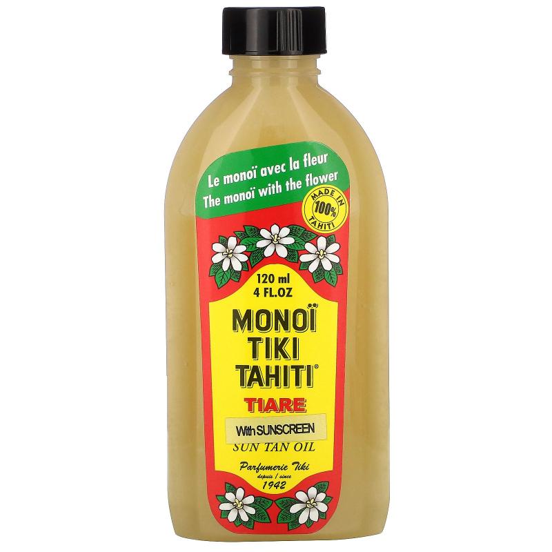Monoi Tiare Tahiti, Sun Tan Oil With Sunscreen, 4 fl oz (120 ml)