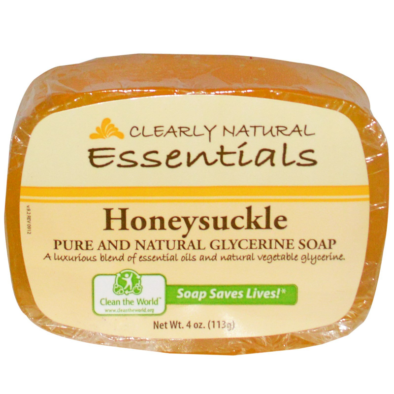 Clearly Natural, Essentials, Pure and Natural Glycerine Soap, Honeysuckle, 4 oz (113 g)