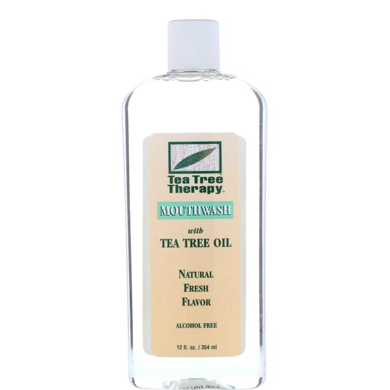Tea Tree Therapy, Tea Tree Oil Mouthwash, Natural Fresh Flavor, 12 fl oz (354 ml)