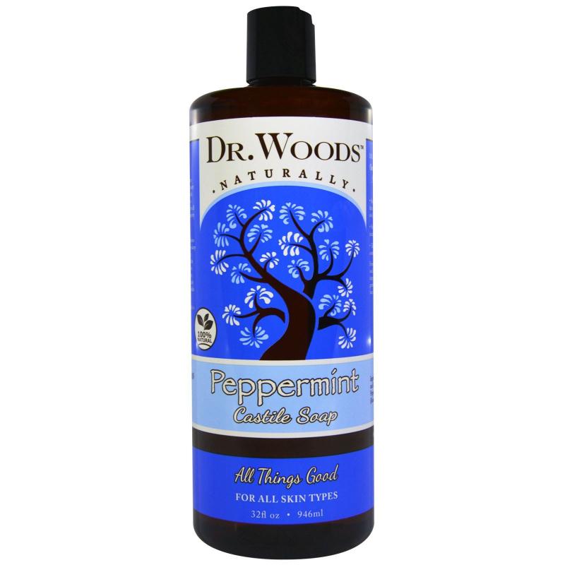 Dr. Woods, Peppermint Castile Soap, 32 fl oz (946 ml)