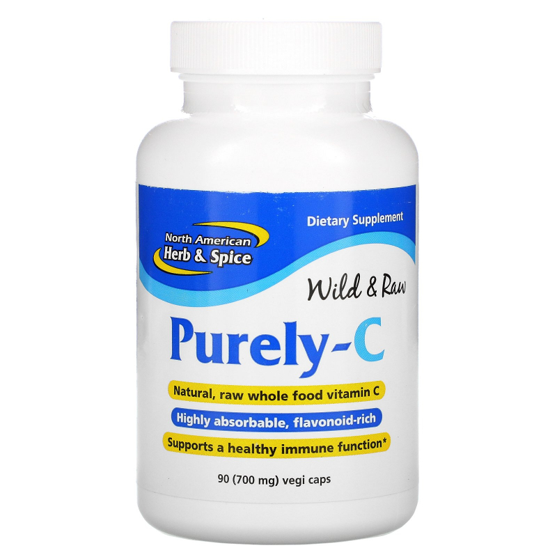 North American Herb & Spice Co., Purely-C, 700 mg, 90 Veggie Caps