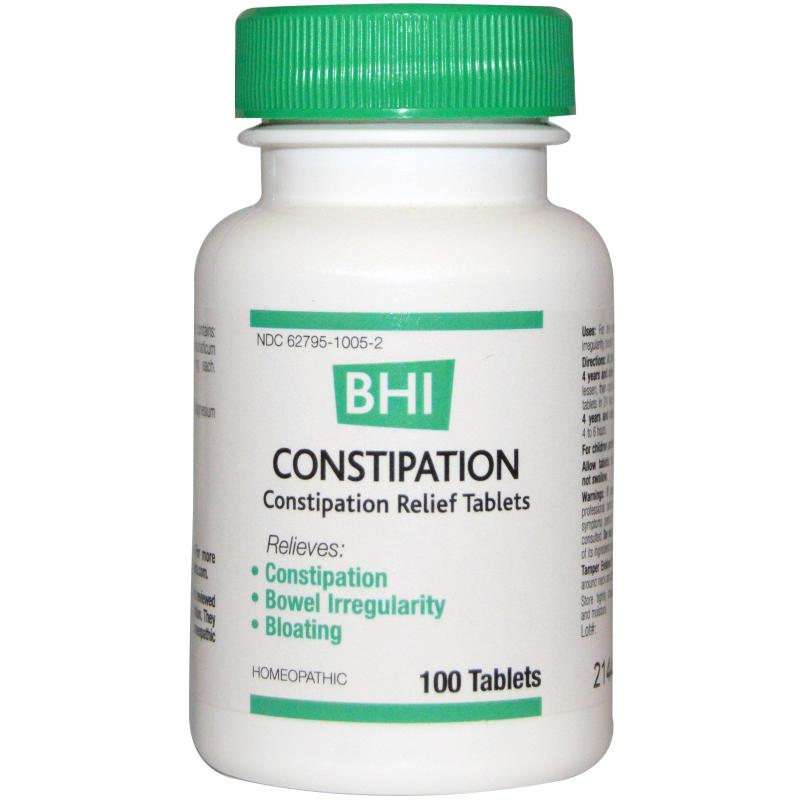 MediNatura, BHI, Constipation, 100 Tablets