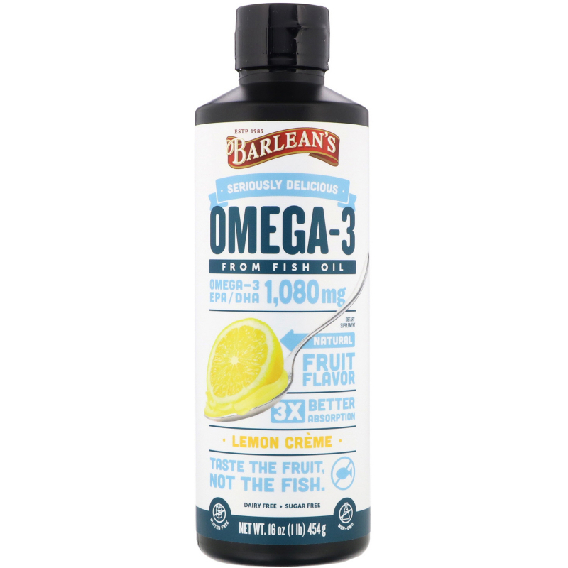 Barlean's, Omega Swirl, Fish Oil, Lemon Zest, 16 oz (454 g)