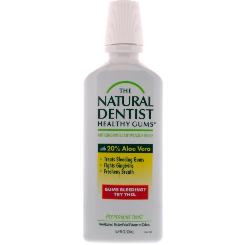 The Natural Dentist, Healthy Gums, Antigingivitis / Antiplaque Rinse, Peppermint Twist, 16.9 fl oz (500 ml)