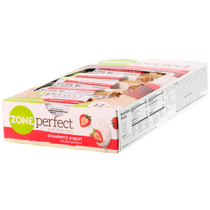 ZonePerfect, Nutrition Bars, Strawberry Yogurt, 12 Bars, 1.76 oz (50 g) Each